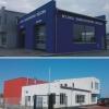Litery przestrzenne białe na elewacji budynku Profesjonalnej Myjni Karcher w Zawadzie k.Opola-Advert Studio