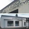 Oznakowanie salonu fryzjerskiego HAIR STUDIO. Litery przestrzenne podświetlane od tyłu , montowane do elewacji na dystansach. Advert Studio.