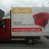 Oklejenie paki TYPU skrzynia  dla firmy Tapicer z Opola
