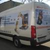 Aplikacja kolorowych grafik na aucie dla BGL Roboty drogowe Opole