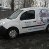 Oklejenie auta grafika pełnokolorową dla SATURN sklep RTV OPOLE