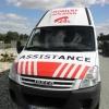 Oklejenie auta Assistance z pasem odblaskowym dla firmy z Prudnika - opolskie