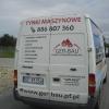 oklejenie plotowanych literek na ato dla firmy tynkarskiej - opole
