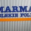 Litery przestrzenne na hali Marma Polska K-Koźle