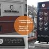 Oznakowanie reklamą hotelu Spałka z Kluczborka - -advert studio reklama