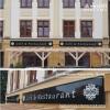 Kasetony świetlne LED z czarnego dibondu z białymi napisami - Hotel Arte Brzeg - Advert Studio