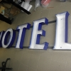 korpusy liter swiecących napisu HOTEL Festiwal h=60cm
