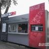 Litery świetlne LED KROSSIN. Oznakowanie pawilonu gastronomicznego. Projekt  Marcin Bochenek &   Mirosław Sztepun- Realizacja konceptu -advert studio