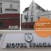 Logo na elewacji zabytkowej kamienicy 3-gwiazdkowego hotelu z Kluczborka - Hotel Spałka Kluczbork - Advert Studio