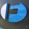 Logotyp  świetlny na budynku dla FBJ Opole - Advert Studio
