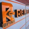 Litery przestrzenne  świetlne na budynku firmy REMBUD Opole