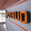 Oznakowanie budynku firmy reklamą swietlną -litery przestrzenne - Firma Deweloperska REMBUD - Opole