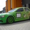 Całościowe oklejenie samochodu sportowego Logiem sponsora Opole