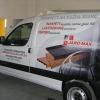 Oklejenie samochodu grafika pełnokolorową dla JOROMAX producent parapetów Opolskie