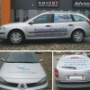 Oklejanie samochodów - oklejenie floty aut POOLSFACTORY producenta basenów- Advert Studio Opole