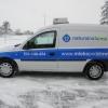 Oklejenie folią KPFM auta dla dystrybotora mleka Opole