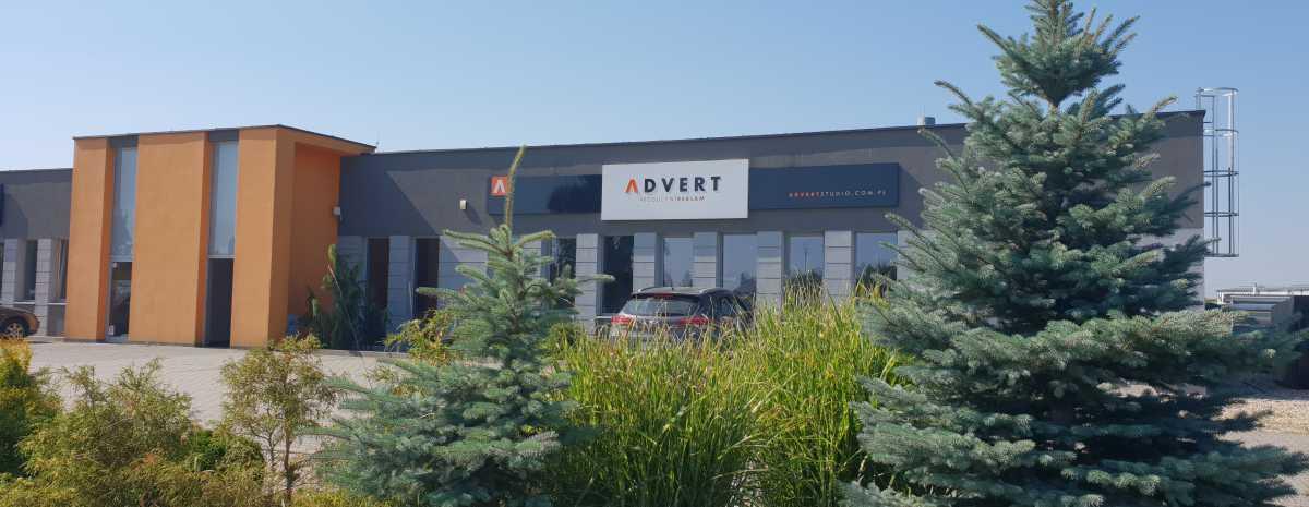 kasetony LED na siedzibie firmy ADVERT producent reklam