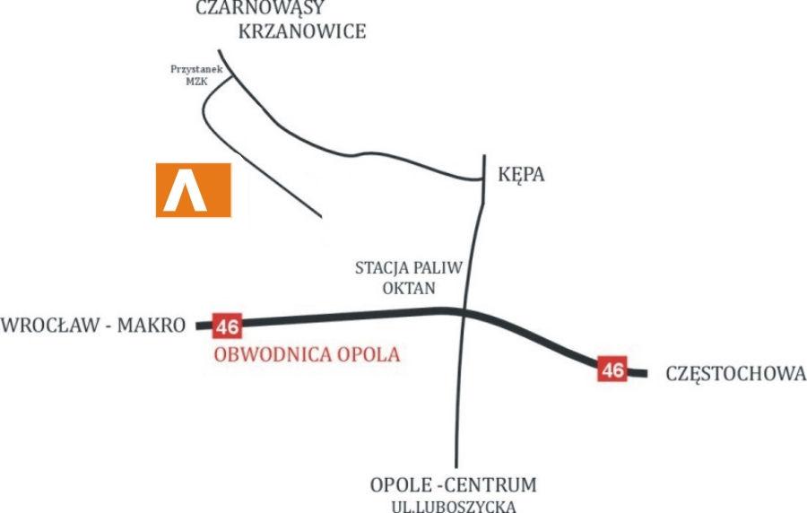 mapa dojazdowa Advert Opole
