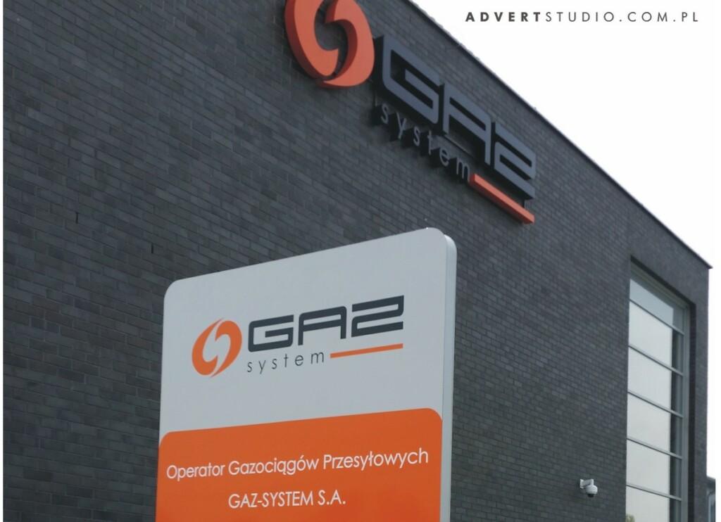 Gaz System - Pylon -advert reklama