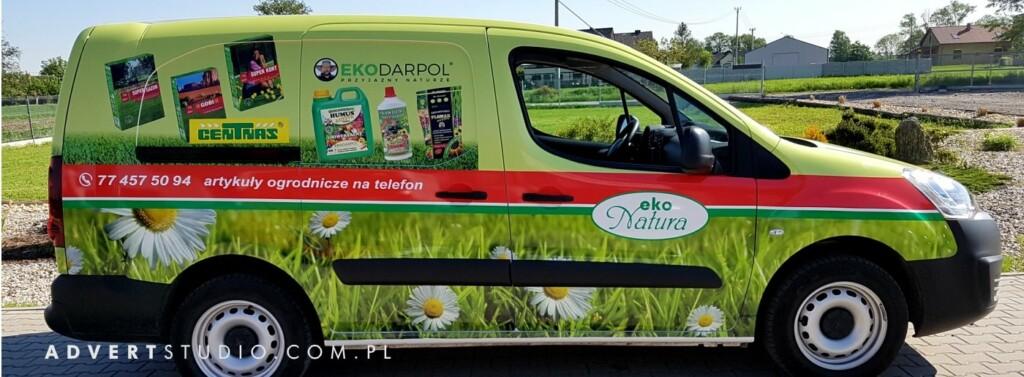 OKLEJENIE auta firmowego eko natura- grafika samochodowa opole Advert reklama