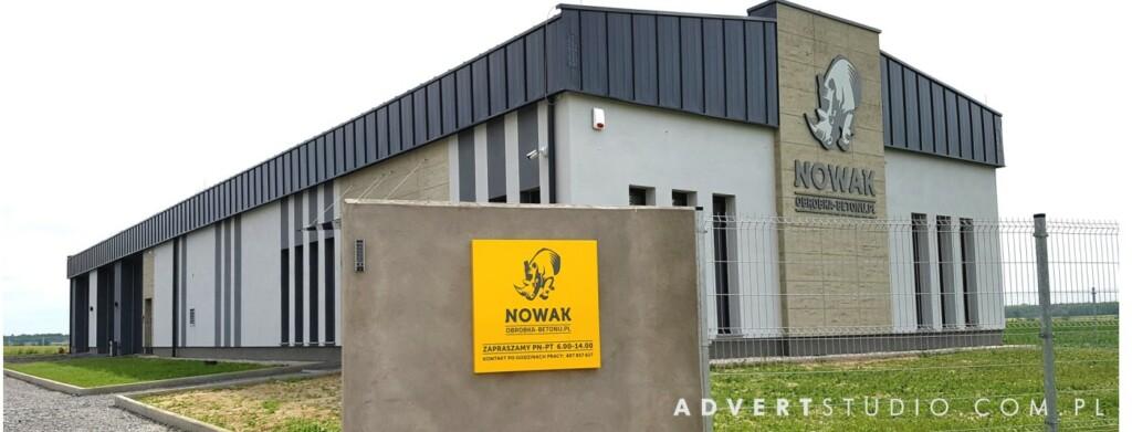OZNAKOWANIE OBIEKTU -logo na budynku -soliden reklam -ADVERT REKLAMA OPOLE