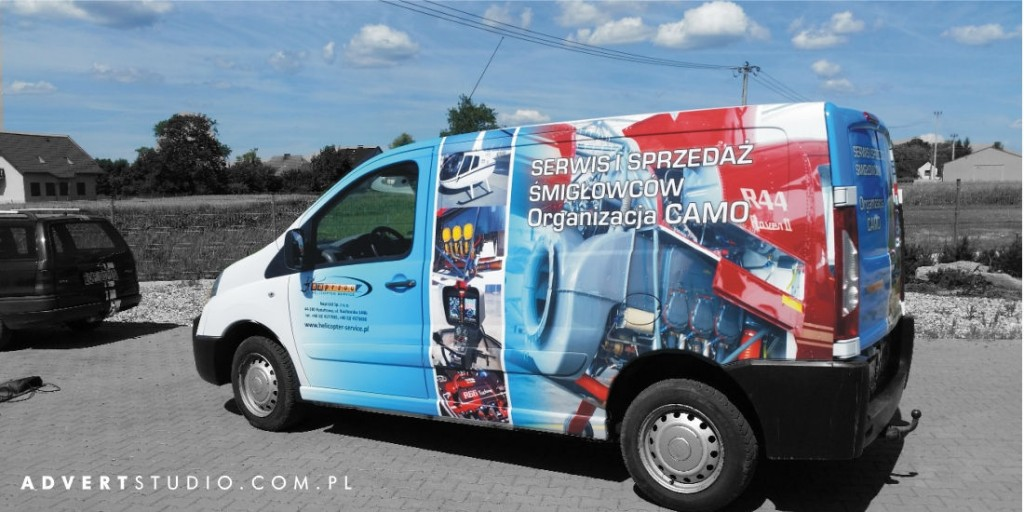 Oklejanie samochodow. Serwis smiglowcow- Advert Studio