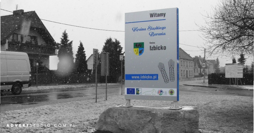 Witacz Gminy Izbicko- Advert producent reklam