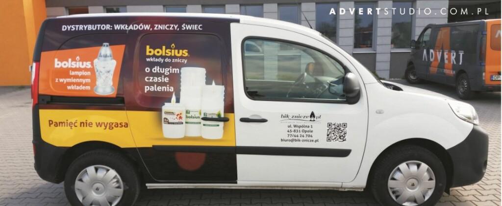 oklejanie aut- Bolsius -Advert Reklama