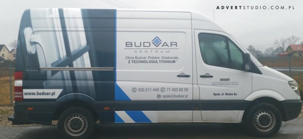oklejanie aut Opole Advert - Budvar Mercedes Sprinter