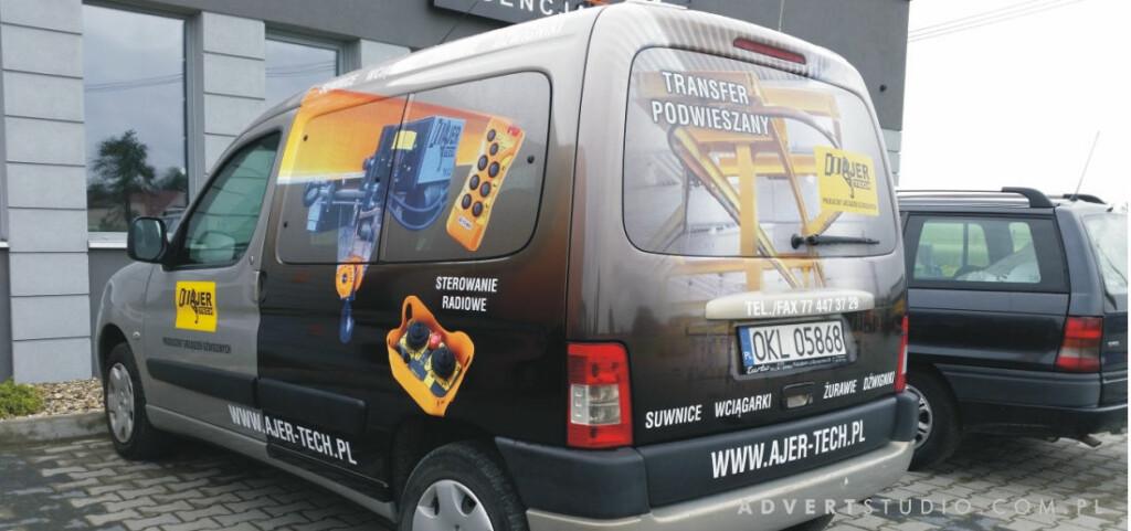 oklejanie aut firmowych - Producent urzadzen dzwigowych AjerTech-Advert Reklama