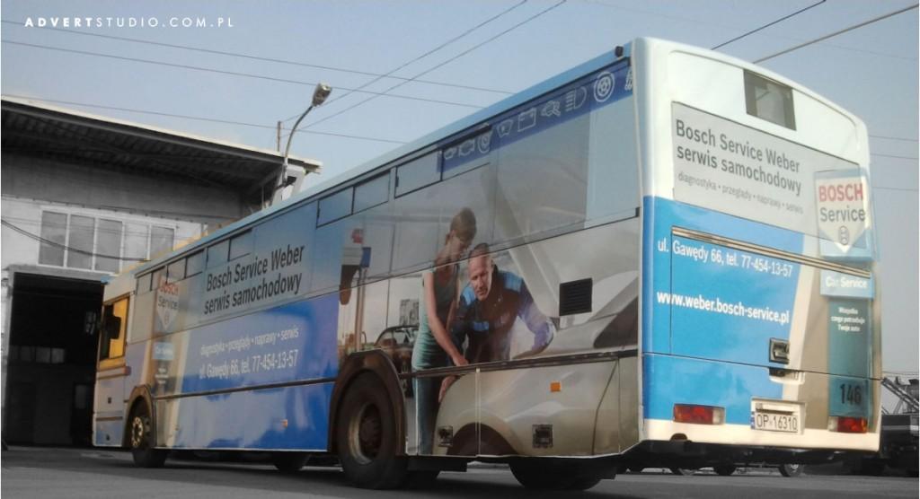 oklejanie autobusu Weber Bosch Service- reklama Opole advert