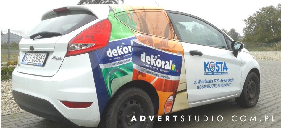 oklejanie samochodow opole - reklama opole advert
