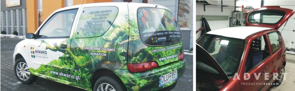 oklejanie samochodow - sklep akwarystyczny AKWARIO- advert reklama opole
