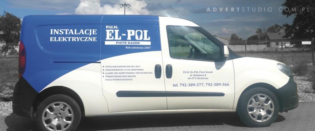 oklejenia auta Instalacje Elektryczne EL-POL -advert reklama opole