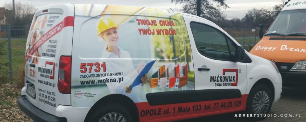 oklejenia auta Mackowiak okna -advert reklama