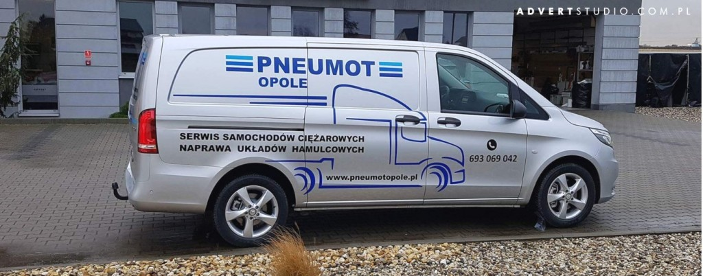 oklejenie auta Pneumot-advert opole