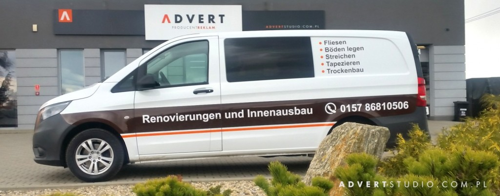 oklejenie auta - auto bekleben - advert reklama Opole
