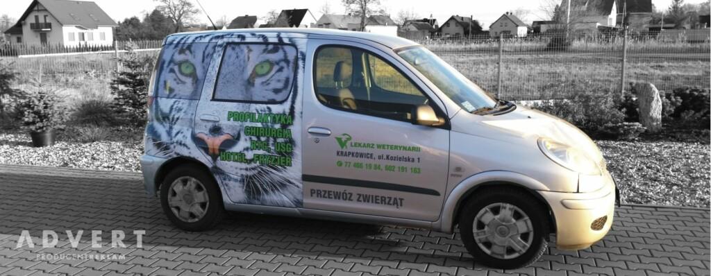 oklejenie auta weterynarz- advert reklama