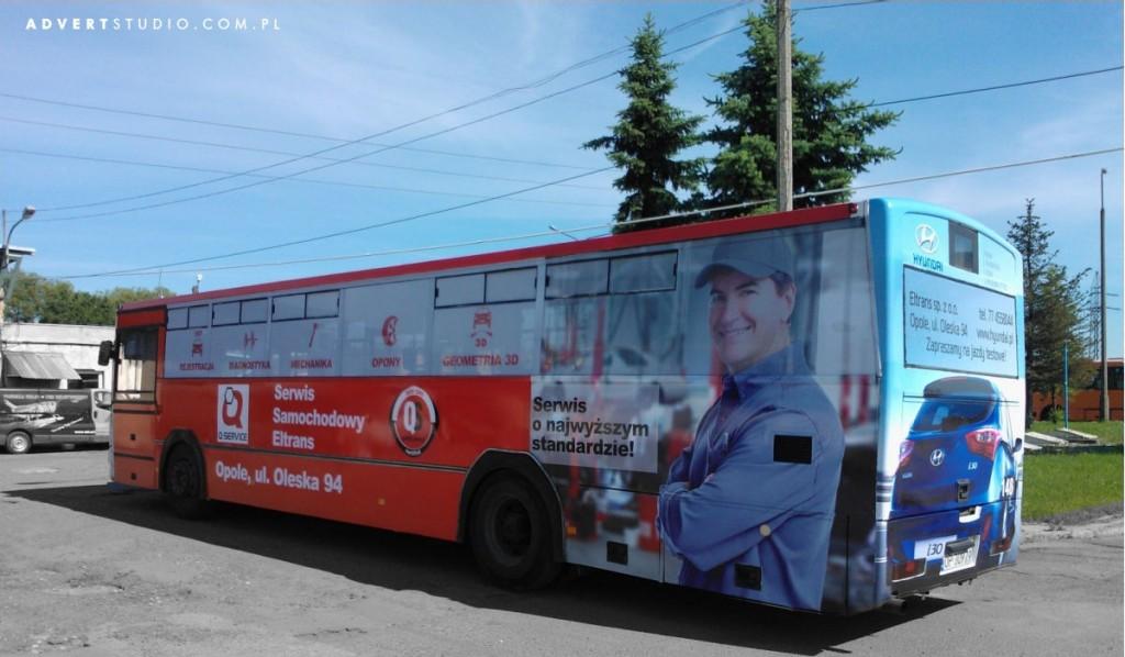 oklejenie autobusu MZK Hyundai Opole-advert reklama