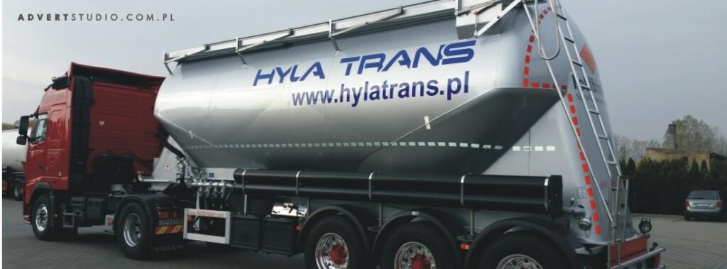 oklejenie cysterny -hYLA TRANSPORT- advert reklama