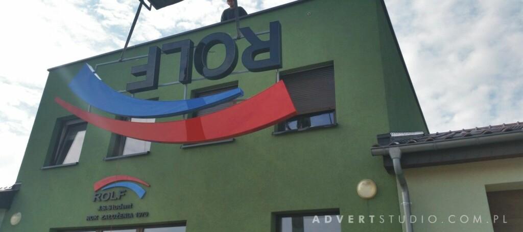 oznakowanie firmy Rolf - producent reklam