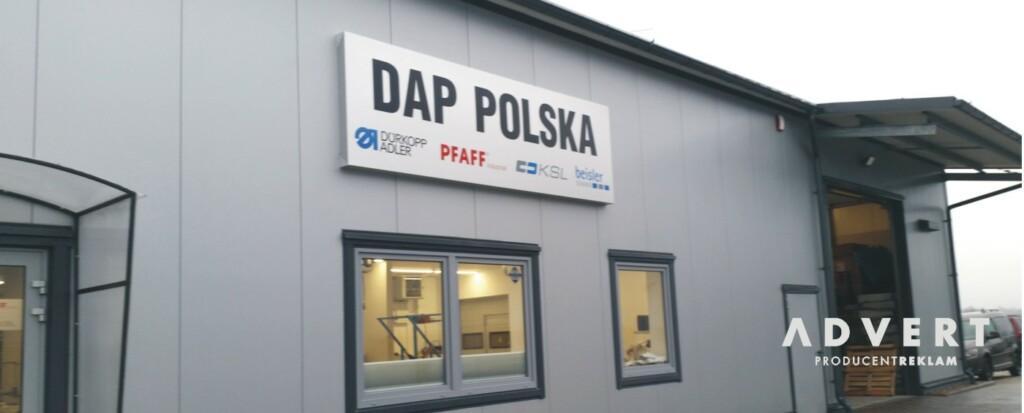 oznakowanie hali DAF POLSKA Wroclaw - reklama advert opole