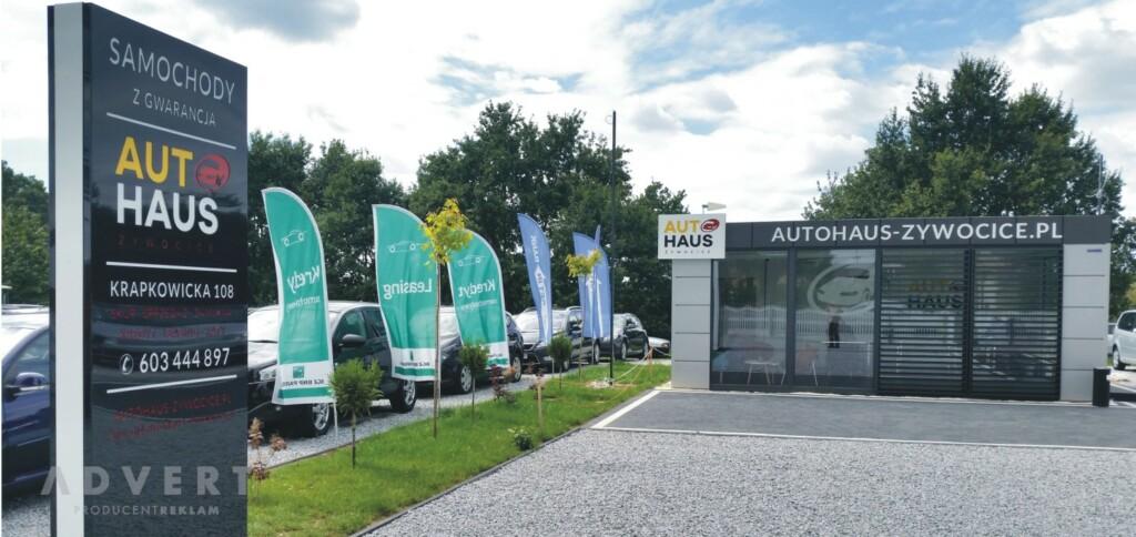oznakowanie komisu samochodowego AutoHaus -producent reklam Advert