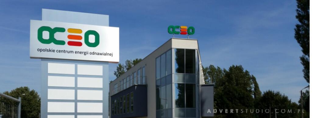 oznakowanie zew. biurowca OCEO aDVERT -producen t reklam