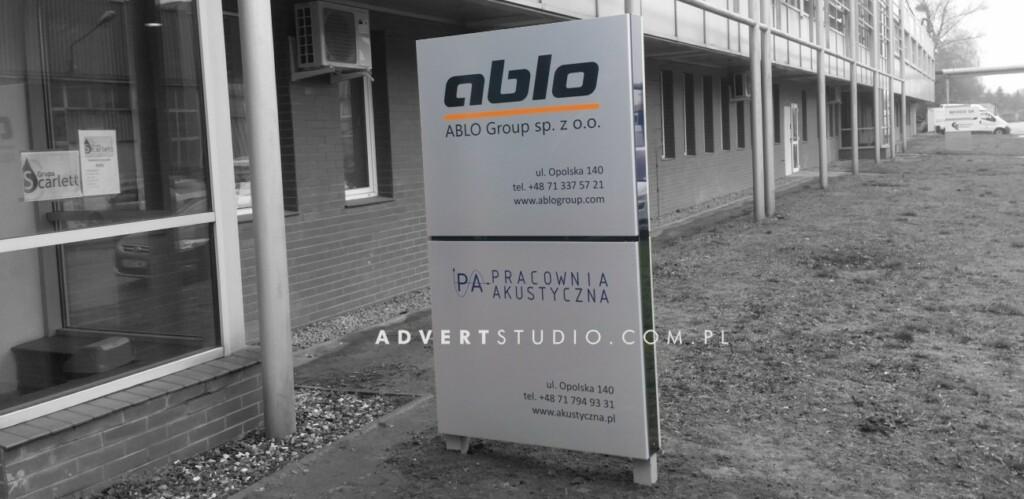 pylon Pracownii Akustycznej Ablo Group Wroclaw- advert producent reklama