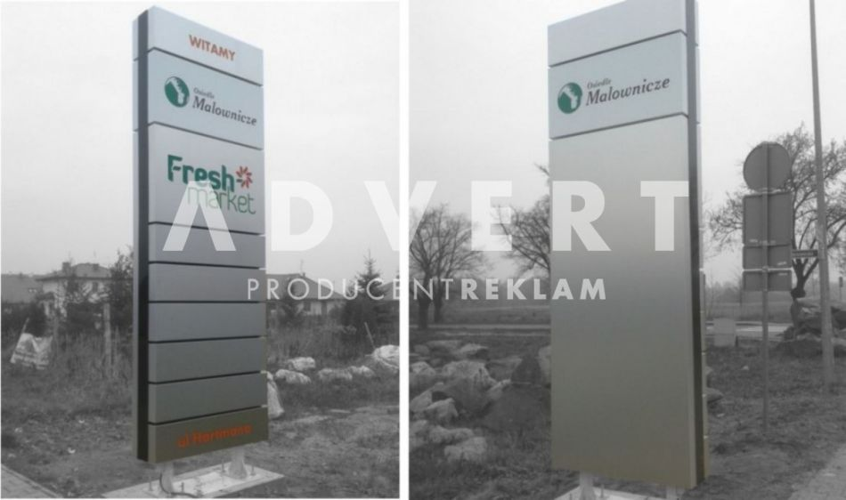 pylon osiedlowy pylon Fresh Market -producent pylonow Advert reklama opole