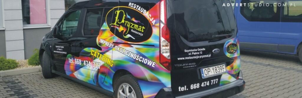 restauracja pryzmat- reklama advert-oklejanie aut opole