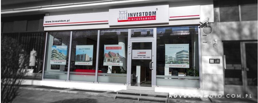 Reklama wizualna dla nowego Biura Investdom -Advert Reklama