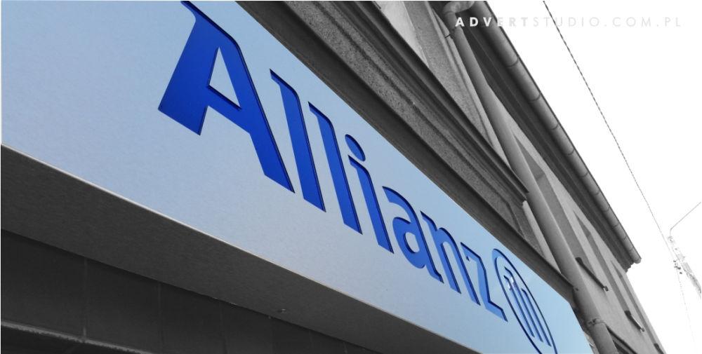 Szyld reklamowy nowego oddzialu Allianz w Niemodlinie-Advert Reklama