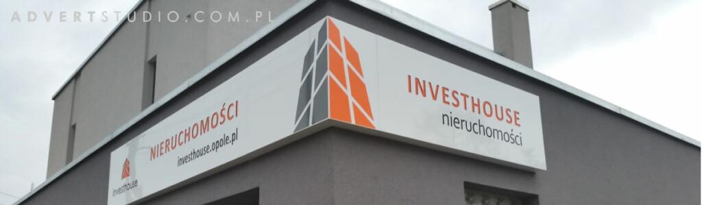 kaseton swietlny led biura nieruchomsci investhouse-producent reklam swietlnych -advert opole